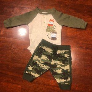 3 Months Matching Garanimals Camo Outfit
